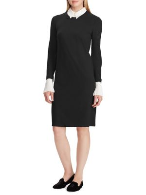 Layered Ponte Shift Dress by Lauren Ralph Lauren