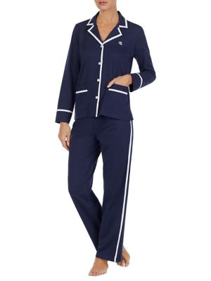 Two Piece Knitted Twill Pajama Set by Lauren Ralph Lauren