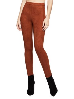 Classic Seamed Faux Suede Leggings by Bcbgeneration