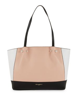 Pearl Leather Tote by Karl Lagerfeld Paris