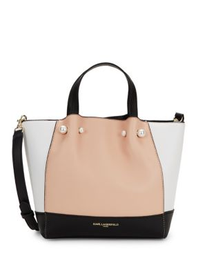 Raphaella Faux Leather Satchel by Karl Lagerfeld Paris