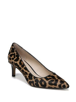 Duran Pointy Leopard Print Calf Hair Pumps by Franco Sarto