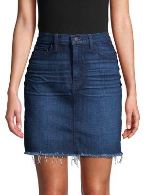 Lulu Lace Up Side Denim Skirt by Hudson Jeans
