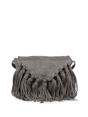 Lee Fringe Leather Crossbody Bag by Day And Mood