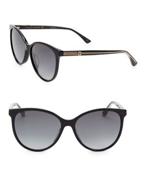 57 Mm Cateye Acetate Sunglasses by Gucci