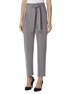 Striped Self Tie Paperbag Pants by Tahari Arthur S. Levine