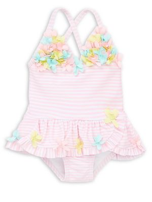 Baby Girl's Floral One Piece Swimsuit by Little Me