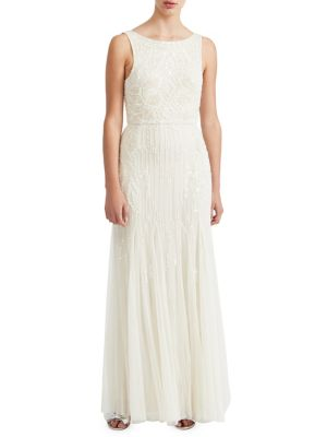 Sequin Embellished Sleeveless Gown by Miss Selfridge