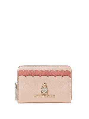 Heart Colorblock Scallops Coin Wallet by Michael Michael Kors