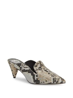7f5e2f2f8c6c Cessilia Snake Print Leather Mules by Vince Camuto