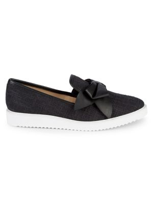 Classie Bowtie Slip On Sneakers by Karl Lagerfeld Paris