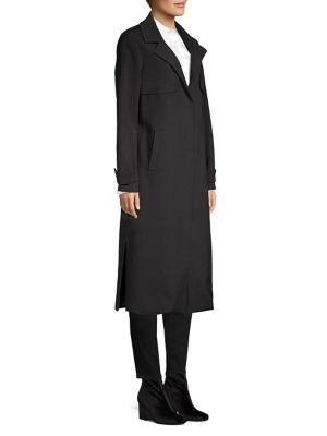 Snap Button Ponte Trench Coat by Kenneth Cole New York