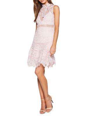 Elise A Line Lace Dress by Bardot