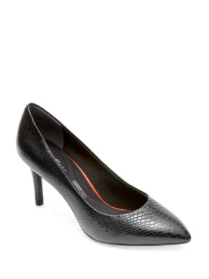 Total Motion Leather Point Toe Pumps by Rockport
