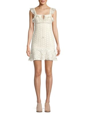 Cross My Heart Crochet Mini Dress by Free People