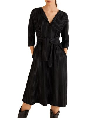 Tie Front Fit & Flare Dress by Mango