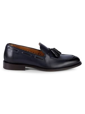 Leather Tassel Loafers by Black Brown 1826