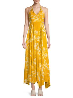 Lillie Cutout Strappy Printed Maxi Dress by Free People