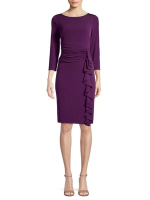 ruched-knee-length-dress by eliza-j