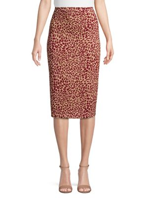 Printed Midi Pencil Skirt by Max Mara Studio