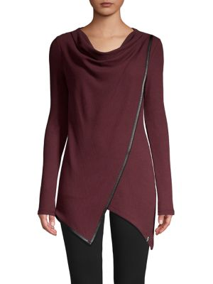 Asymmetric Draped Front Tunic by Marc New York Performance
