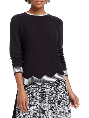 Petite Jagger Cotton Blend Sweater by Nic+Zoe