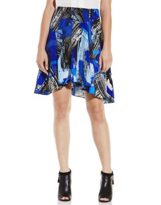 Vince Camuto Patterned Above the Knee Skirt