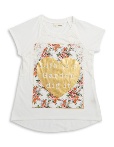 Girls 7-16 Life Is A Garden Tee