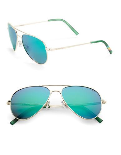 52mm Mirrored Aviator Sunglasses