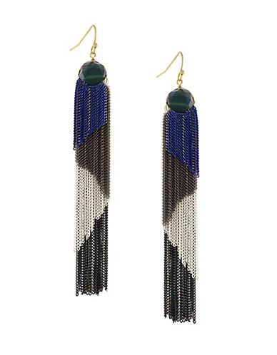 Boheme Tricolor Tassel Earrings