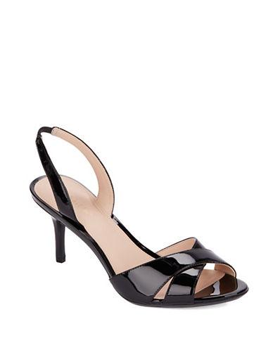 Calvin Klein Lucette Patent Leather Slingback Sandals