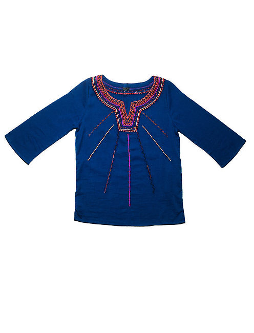 SODALITE EMBROIDERED TOP,