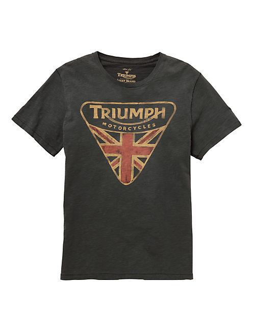 TRIUMPH BADGE TEE, BLACK MOUNTAIN