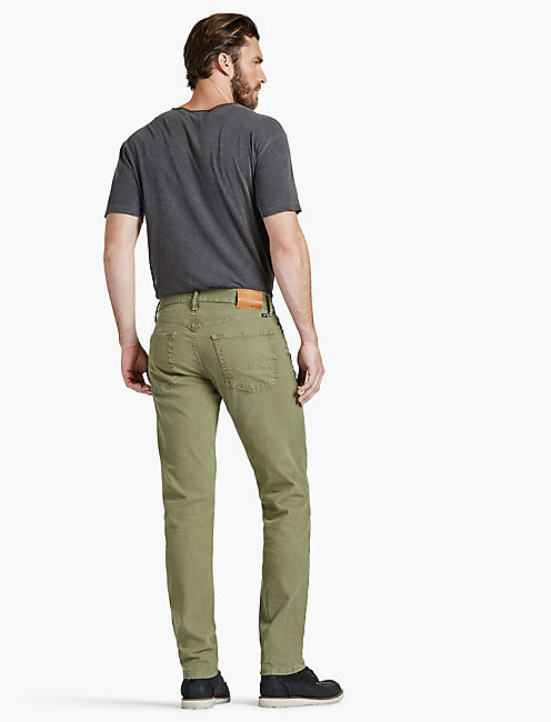 221 STRAIGHT JEAN, OLIVE