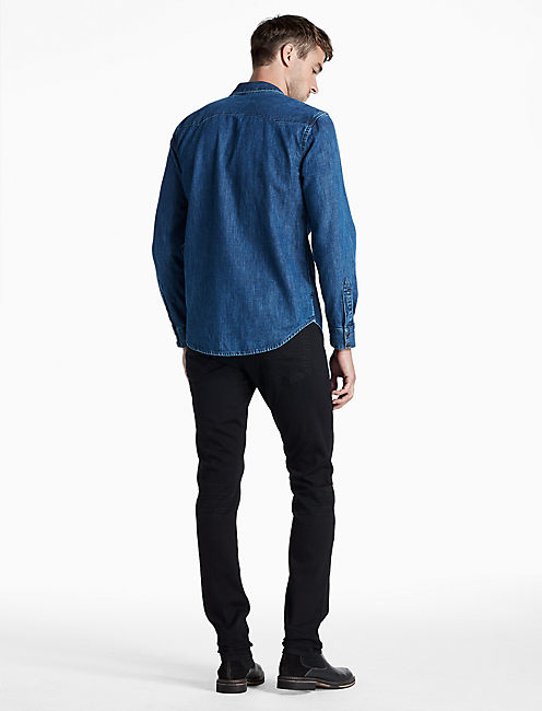 DENIM SAWTOOTH SHIRT, PINEDALE