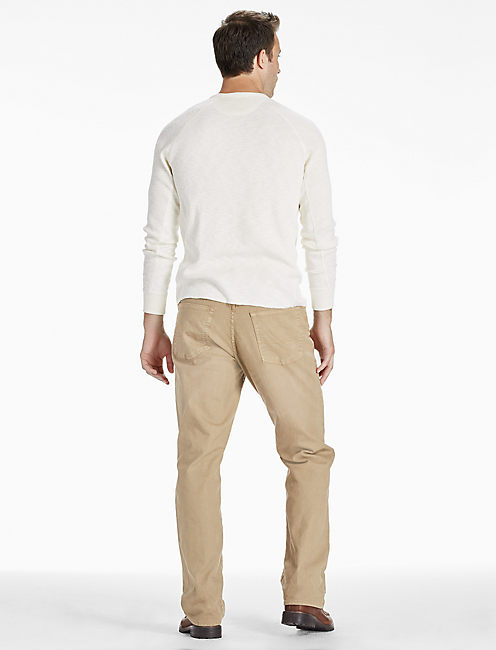 181 RELAXED STRAIGHT JEAN, SADDLE