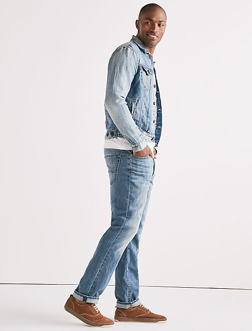 Lucky Lightweight Linen Denim Trucker Jacket