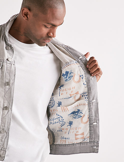 Lightweight Linen Denim Trucker Jacket,