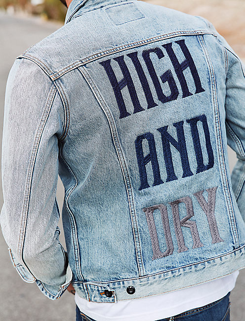 HIGH AND DRY DENIM TRUCKER JACKET,