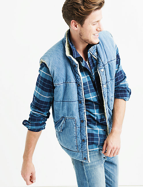 Lucky Denim Sherpa Vest