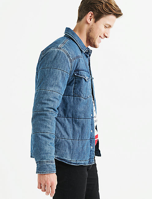 Lucky Quilted Denim Shirt Jacket