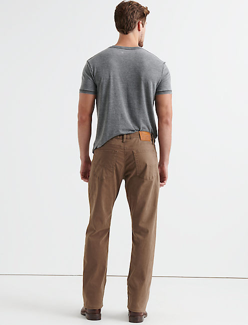 181 RELAXED STRAIGHT JEAN, BARK