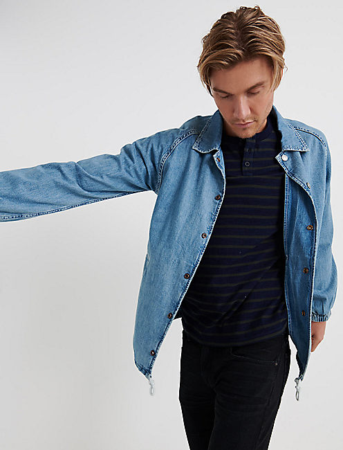 DENIM COACHES JACKET, YOUNG STRATFORD