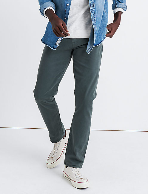 110 SKINNY STRETCH SATEEN JEAN, FOSTER GREEN