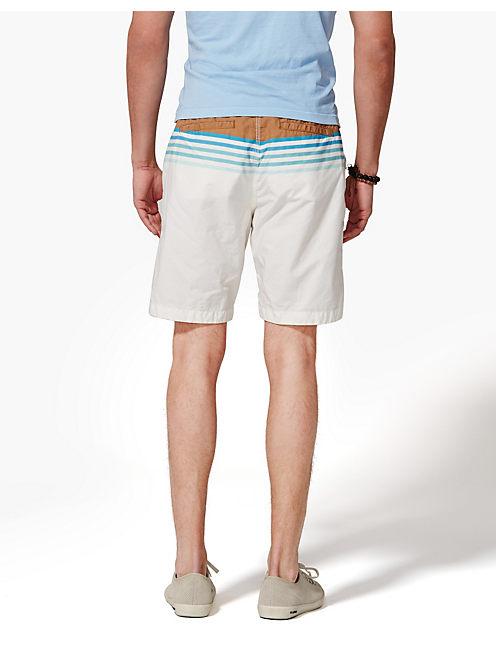 PRINTED BEACH SHORTS, BLUE/WHITE STRIPE