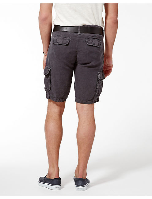 LONGBEACH LINEN SHORTS, PEBBLE