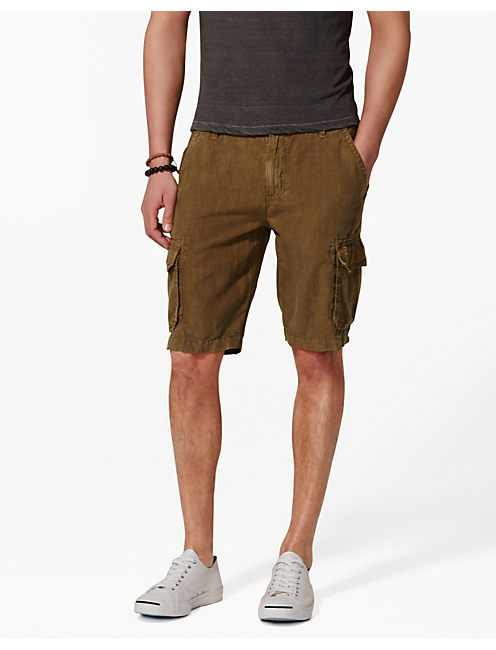 LONGBEACH LINEN SHORTS, SPRING OLIVE