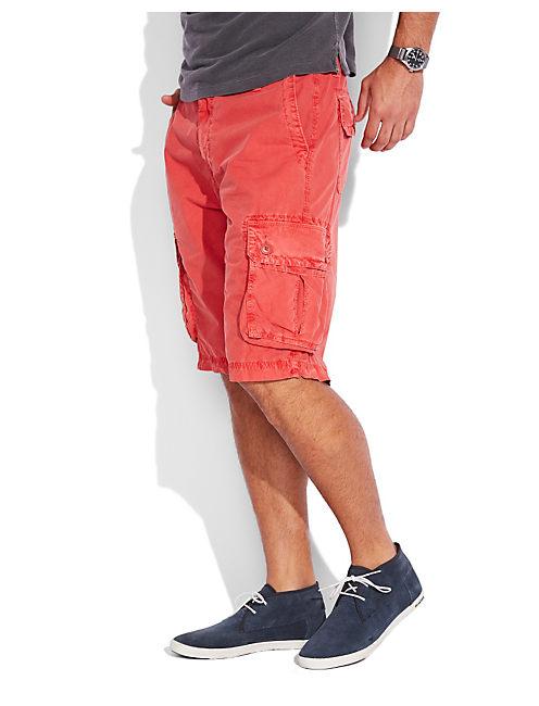 PAPERWEIGHT CARGO SHORT, #6655 SUMMER RED