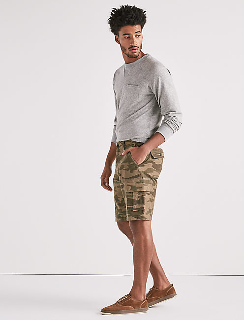 Stretch Sateen Cargo Short,