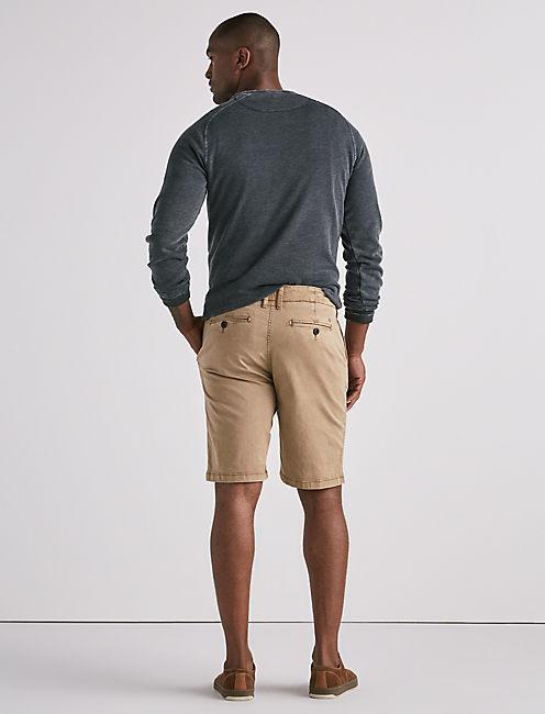 Stretch Sateen Flat Front Short, TWILL #16-1108 TCX